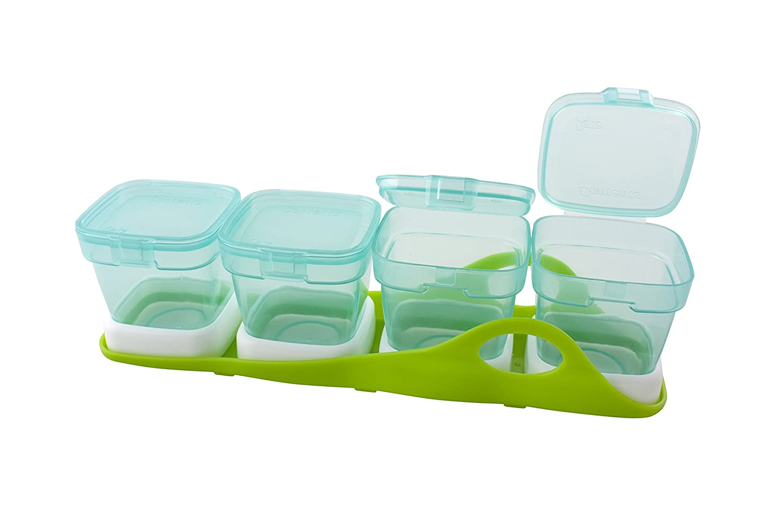primamma Multi-Boxen, 4-in-1, Aufbewahrungsbox, Breischale, Schale mit Deckel, für Babynahrung, zum Einfrieren für Babynahrung 44014800