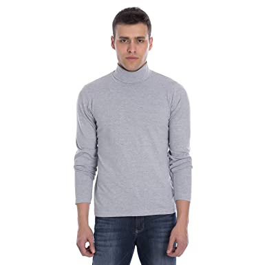 Marca Disati Men s Cotton Spandex Turtle Neck T-Shirt  Amazon.in ... 4a142bf395c