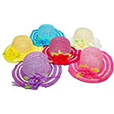 6 Pack Cutie Collections Girls Tea Party Flower Costume Sun Hats (Multicolor)