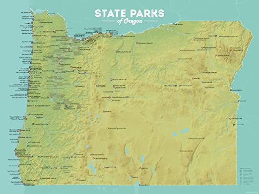 State Of Oregon Map Amazon.com: Best Maps Ever Oregon State Parks Map 18x24 Poster