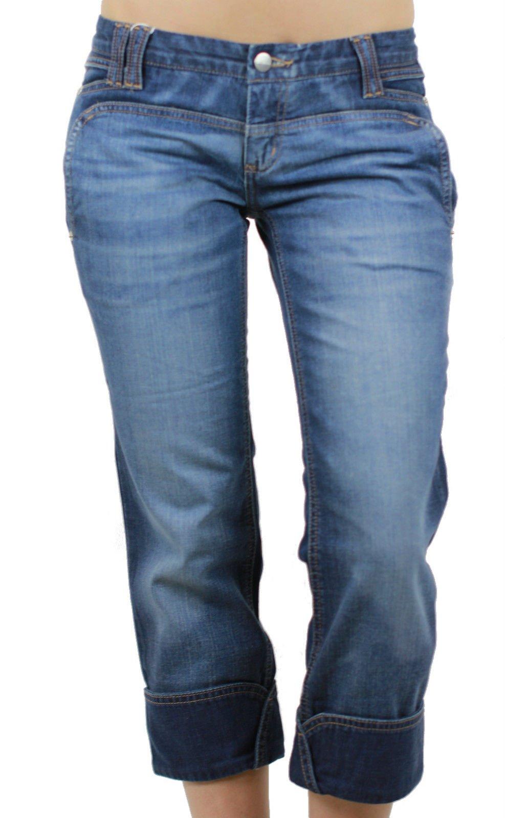 Custo Barcelona Women's Jeans Belona Cropped Capri Jeans 27 Rinsed Denim