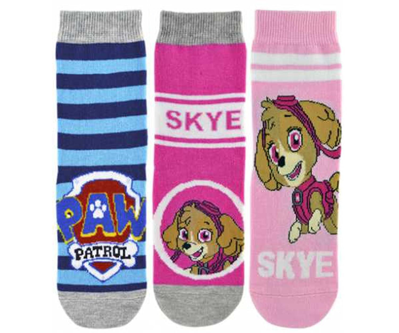 "Las niñas oficial ""Paw Patrol Marshall, Chase y Skye"" 3pares de character calcetines"
