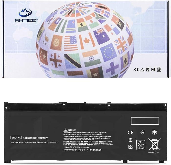 ANTIEE SR04XL Laptop Battery for HP Pavilion Power 15-CB000 CB000NG CB045WM 15-CE000 15-CE015DX 15-DC0000 15T-CE000 15T-CB2000 Omen 15 2018 15-CE000 CE015DX DC0000 917724-855 917678-1B1 15.4V 70.07Wh