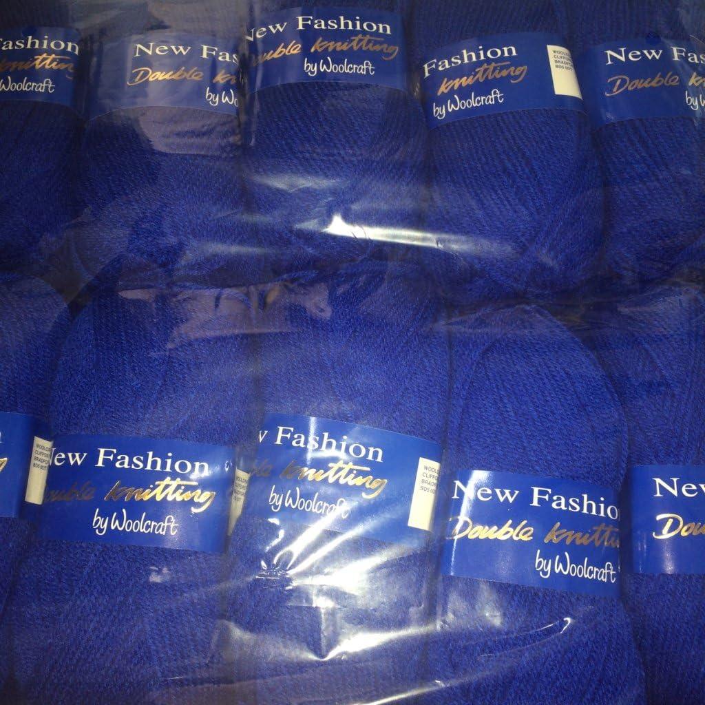 Yarn 5 x 100g Woolcraft Dk Double Knitting Wool 5 x 100g Royal 622