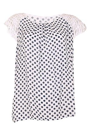 Moda Italy Damen Blusen Shirt Tunika Sommer Freizeit Look Häkel ...