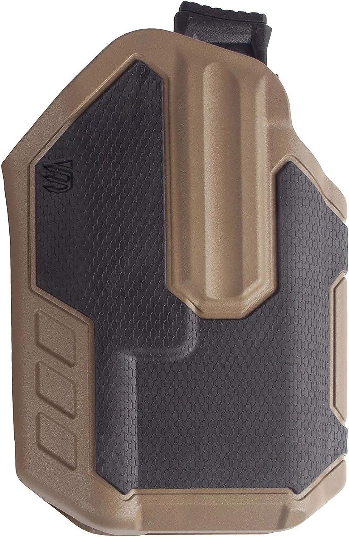 BLACKHAWK! Concealment 419002BCR Omnivore TLR 1/2 Light Bearing RH BK/CT, Tan, One Size