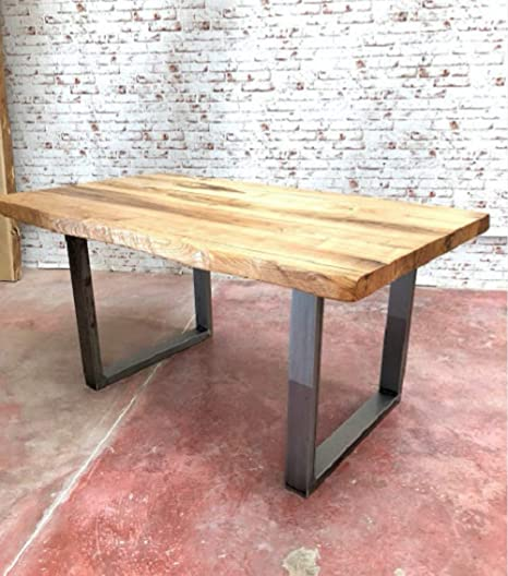 Xlab Design Tavolo da Cucina 140X85X75 Nathan in Legno massello di ...