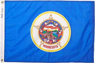 product image for Annin Flagmakers Model 142750 Minnesota Flag Nylon SolarGuard NYL-Glo, 2x3 ft, 100% Made in USA to Official State Design Specifications