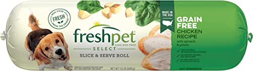 Freshpet Dog Food, Slice and Serve Roll, Grain Free Chicken Recipe, 1.5 Lb