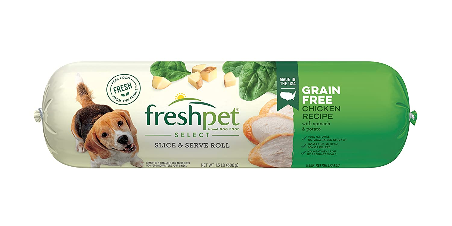 Freshpet Grain Free Chicken Spinach Potato Dog Food 1 5 Lb