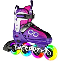 Crazy Skates Adjustable Inline Skates with Light Up Wheels - Available in Two Colors