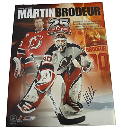 Martin Brodeur Autographed New Jersey Devils 11x14 Photo W Proof