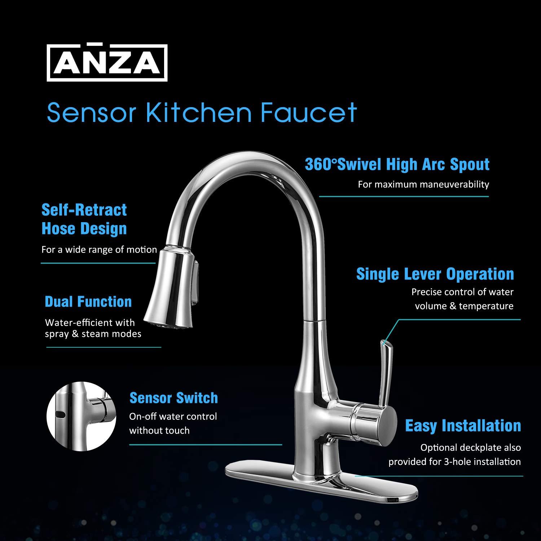 Best Touchless Kitchen Faucet Reviews 2021 Motion Sensor Automatic Hands Free