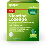 Amazon Basic Care Nicotine Polacrilex Lozenge 4 mg (nicotine), Mint Flavor, Stop Smoking Aid; quit smoking with nicotine…