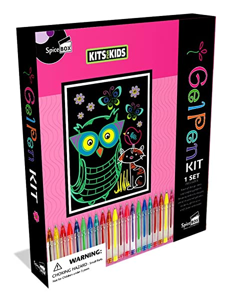 54be0e708 Image Unavailable. Image not available for. Color: SpiceBox Gel Pen Kit  Creativity Kit
