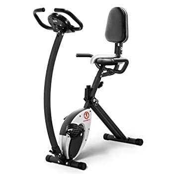 Marcy Foldable Recumbent Exercise Bike with High Backrest