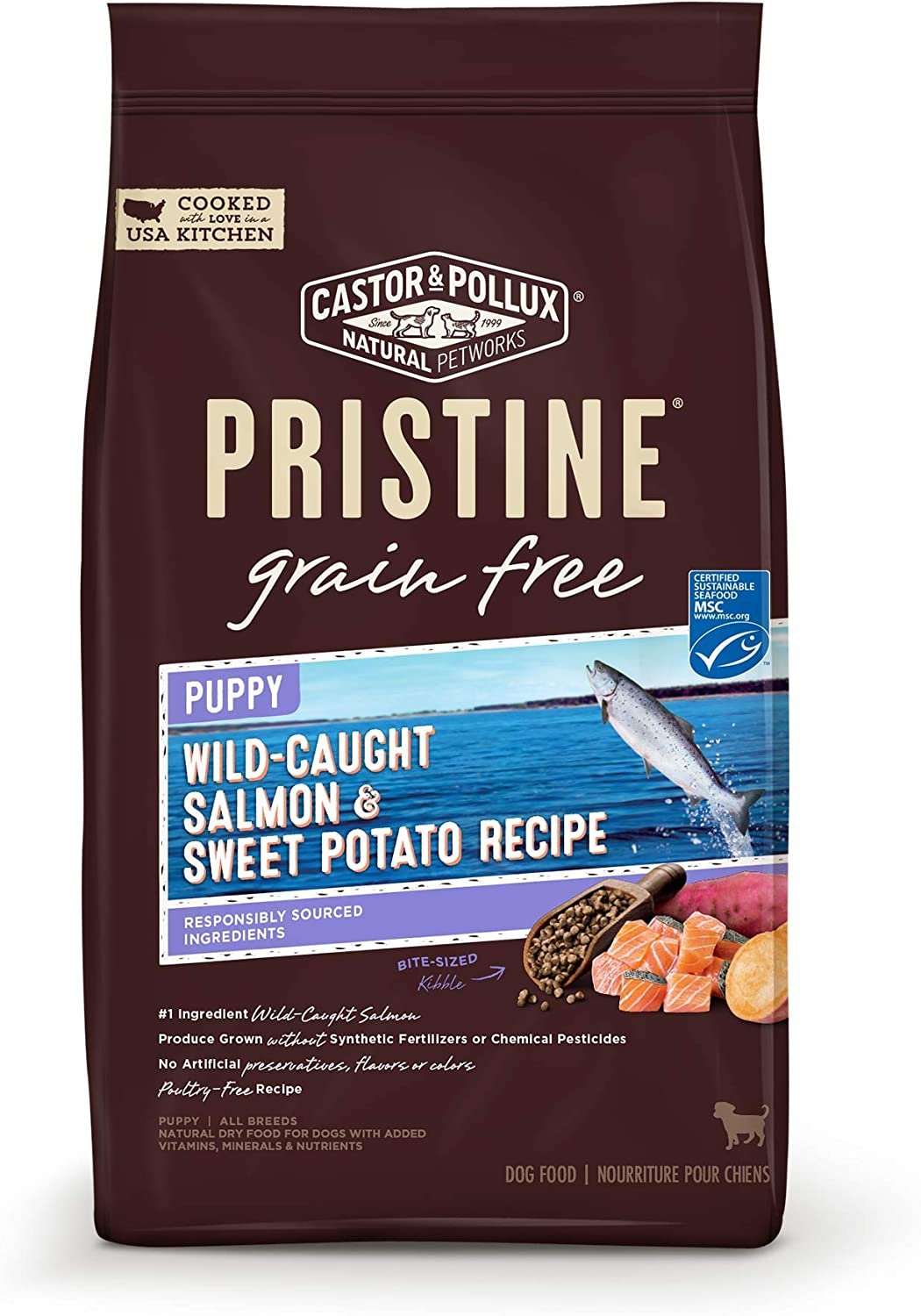 Castor & Pollux Pristine Grain Free Puppy Wild Caught Salmon & Sweet Potato Recipe 4.0 lb Bag