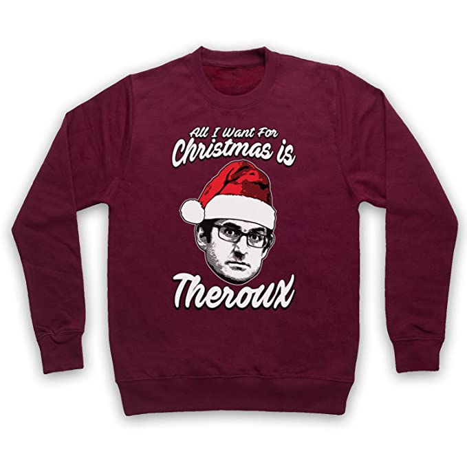 Louis Theroux Christmas Jumper All I Want Festive Gift Adults /& Kids Jumper Top