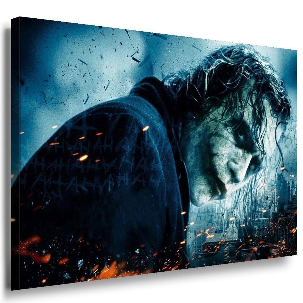 Joker böse Blick Leinwandbild   LaraArt Bilder   Mehrfarbig + Kunstdruck XXL f07 Wandbild 100 x 70 cm