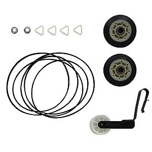 ANTOBLE 4392065 Dryer Kit 341241 Belt, 691366 Idler Pulley & 349241t Drum Rollers for Kenmore Sears Kirkland Roper Dryer