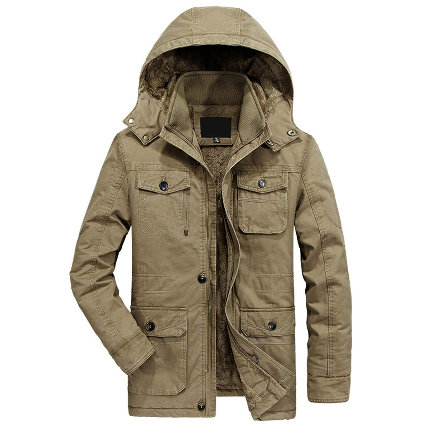 Military Parka Men Coat Winter Thicken Warm Snow Cold Men ...