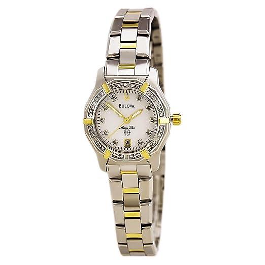 5e0b46d0c633 Bulova para mujer acero inoxidable y diamantes reloj  Amazon.es  Relojes