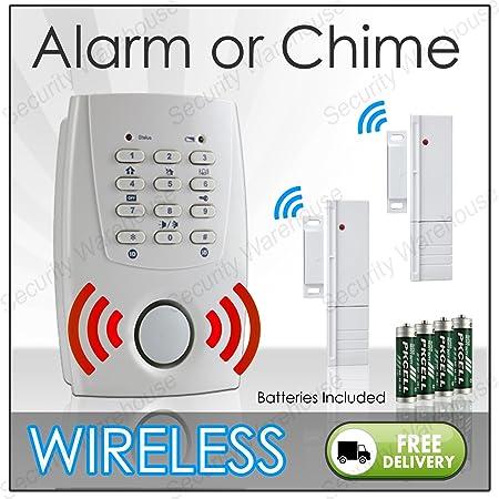 New Wireless Alarm Door Entry Alert Magnet Contact Sensor Window