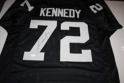 0e00f34aa OAKLAND RAIDERS LINCOLN KENNEDY  72 SIGNED HOME JERSEY ALL PRO JSA WITNESS