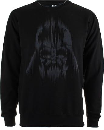 TALLA L. Star Wars Vader Lines Sudadera para Hombre