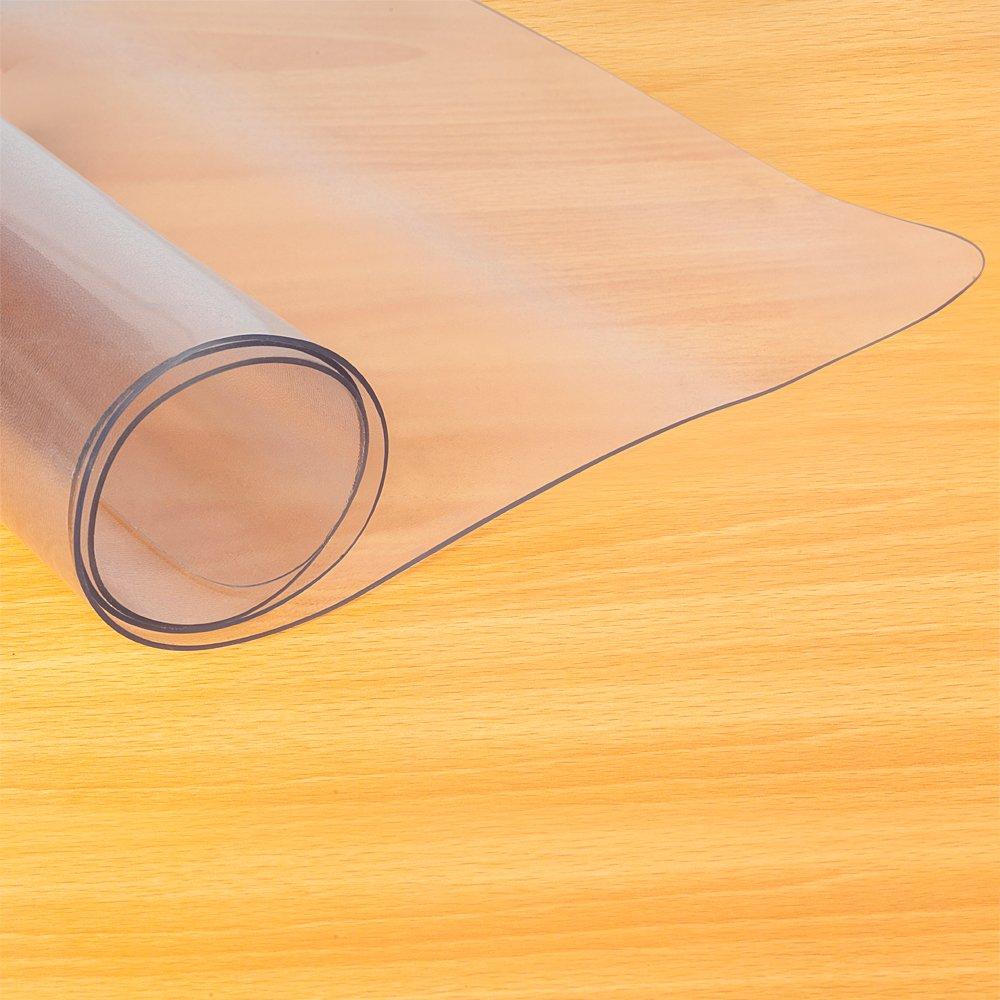 Chair Mat Protector,90x120x0.15CM PVC Slip Resistant Transparent Matte Home -use Rolling Desk Computer Chair Mat for Hardwood Floor