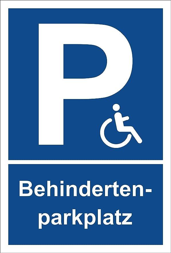 Schild Behinderten Parkplatz aus Aluminium-Verbundmaterial 3mm stark 30 x 45 cm Rollstuhlfahrer parken