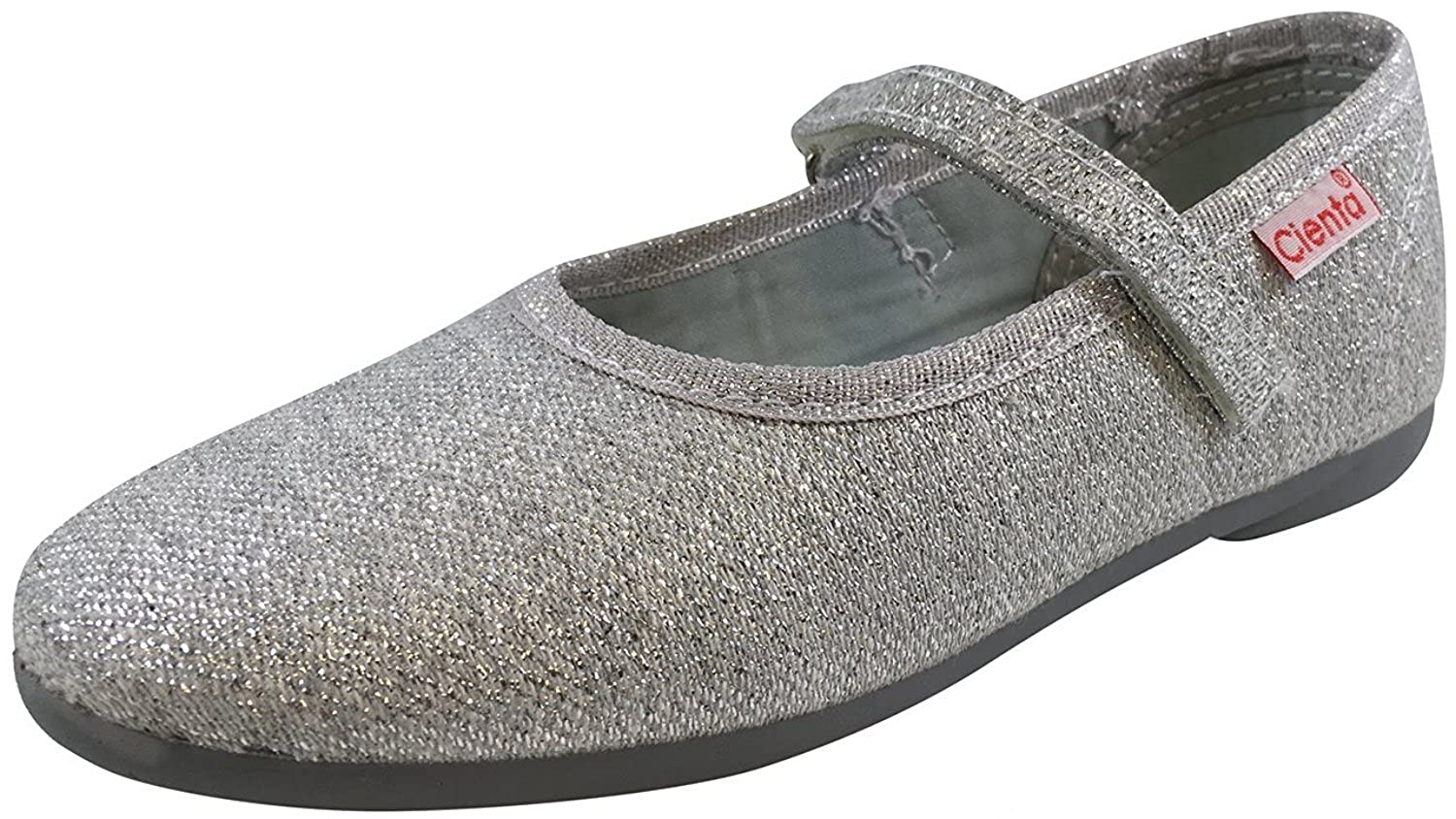 Toddler//Little Kid//Big Kid Cienta Kids 96013 Silver Mary Jane