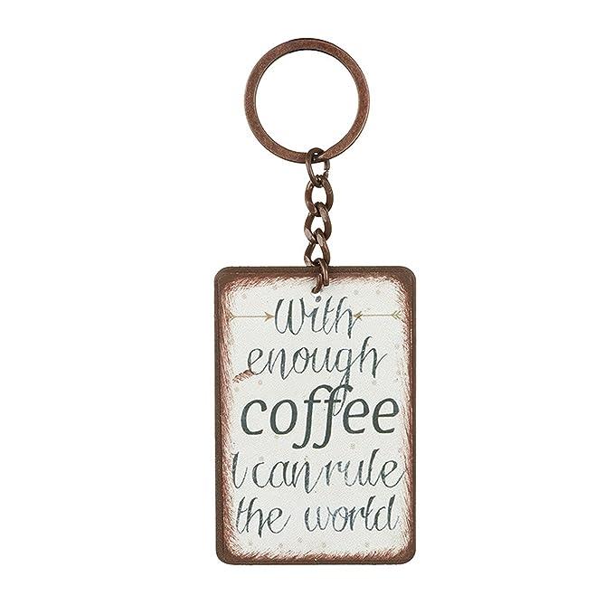 Heaven Sends - Llavero con mensaje Enough Coffee (4 x 6 x ...