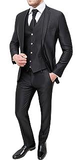 Abito uomo sartoriale nero elegante set completo coordinato sposo testimone 5b554418dcb