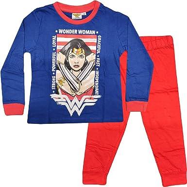 Conjunto de pijama de mujer maravilla para niña de 3 a 10 años