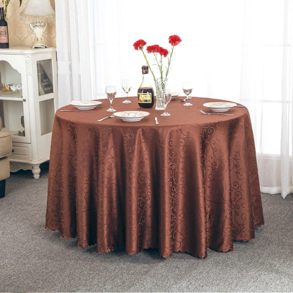 precios bajos todos los dias JIANFEI Mantel Redondo Elegante Suave Delicado Delicado Delicado Jacquard, Fibra química, 3 Colores, 12 tamaños Opcionales (Color : Color Cafe, Tamaño : 3.8m Splicing)  apresurado a ver