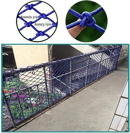 Redes SunYaZhou Balcón barandilla de la escalera neto seguro, Juguetes for niños Seguridad Pet Protector de techo azul Net Net decorativo duradero resistente a la intemperie cerca carga de camiones re: Amazon.es: