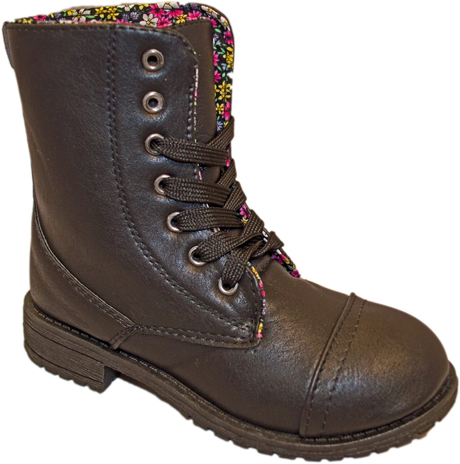 Charles Albert Little Kids Combat Lace Up Boots