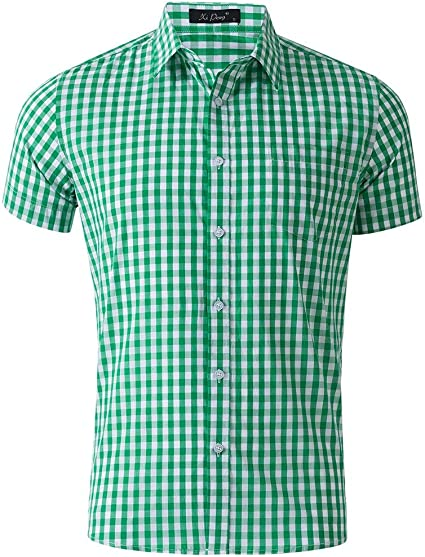Camisas de vestir para hombre Camisa de manga corta para ...