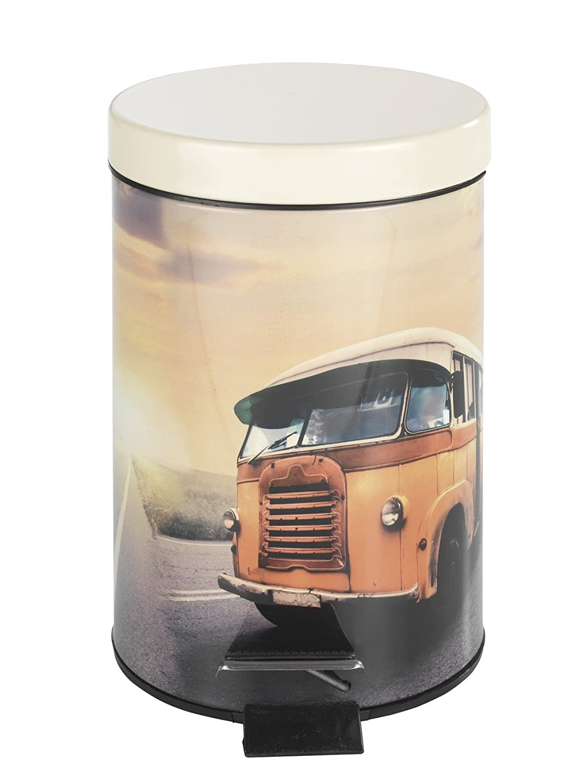 Wenko Vintage Bus Pedal Bin, Multi-Colour, 3 Litre 21604100