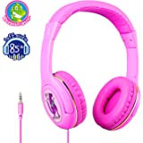 Kids Headphones,Dveda 85dB Volume Limited Hearing Protection Child Wired Headset,3.5mm Jack On Ear Headphones with Adjustable Headband for Kids/Children/Toddler,Best for Kids
