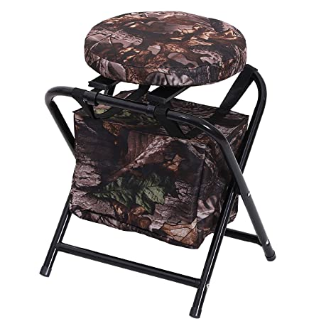 Super Outsunny 19 360 Degree Swivel Folding Travel Camping Stool With Storage Bag Pdpeps Interior Chair Design Pdpepsorg