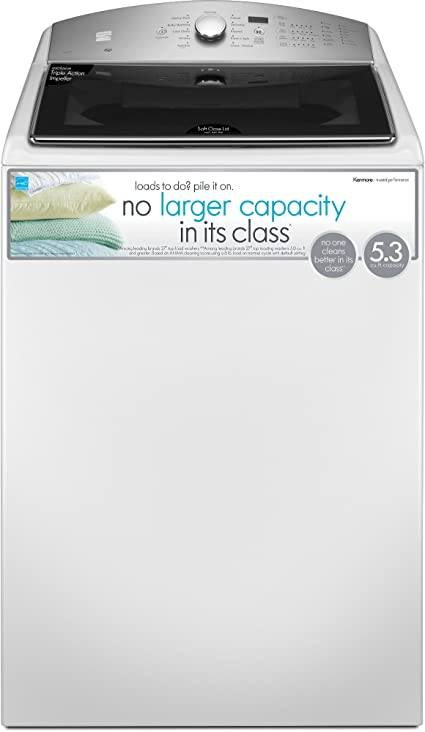 Kenmore 5.3 cu. ft. Top Load Washer in White, includes delivery and hookup