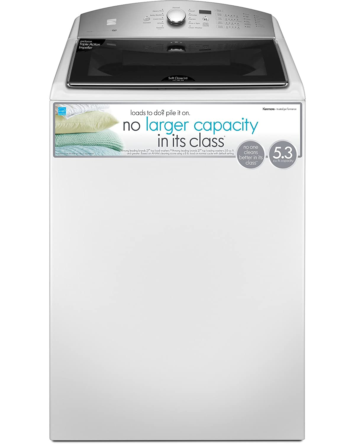 Amazon.com: Kenmore 28132 5.3 cu. ft. Top Load Washer in White, includes  delivery and hookup: Appliances