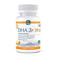 Nordic Naturals Pro DHA Jr. Xtra, Berry Punch - 90 Mini Chewable Soft Gels - 636 mg Total Omega-3s with EPA & DHA - Brain, Nervous System & Visual Development - Non-GMO - 30 Servings