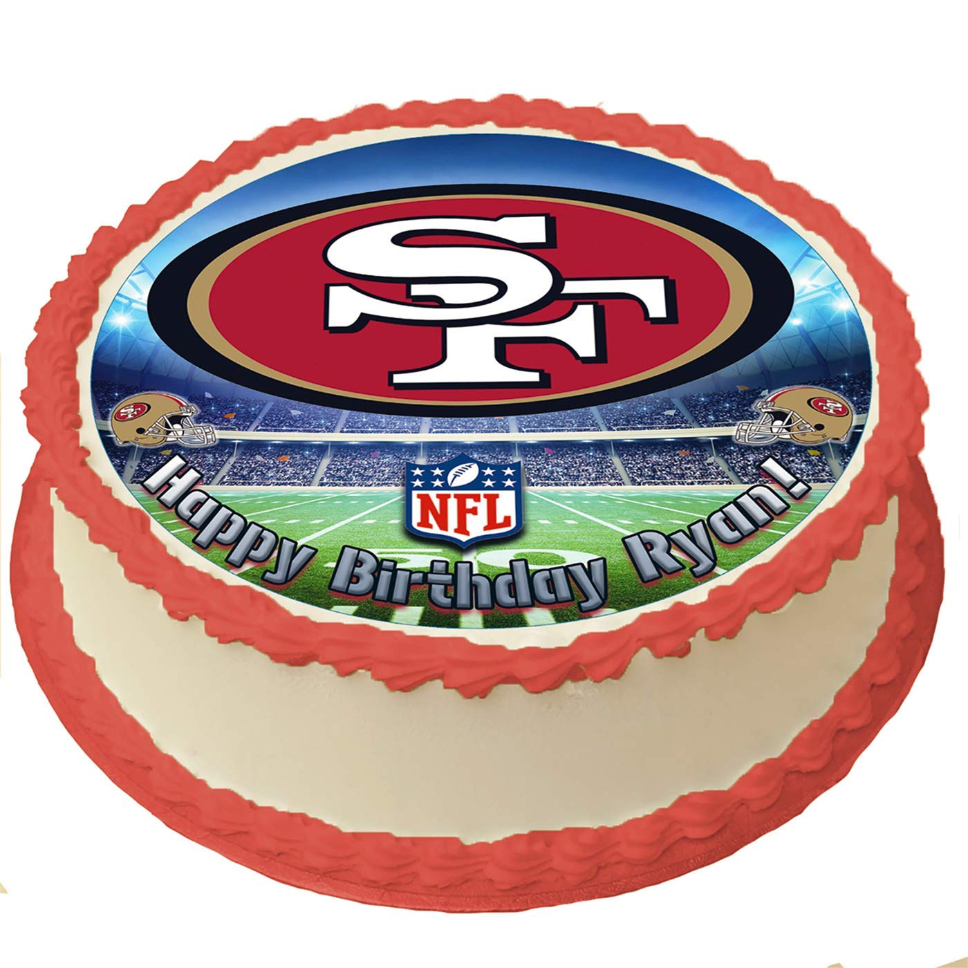 Phenomenal San Francisco 49Ers Nfl Personalized Cake Topper Icing Sugar Paper Funny Birthday Cards Online Overcheapnameinfo