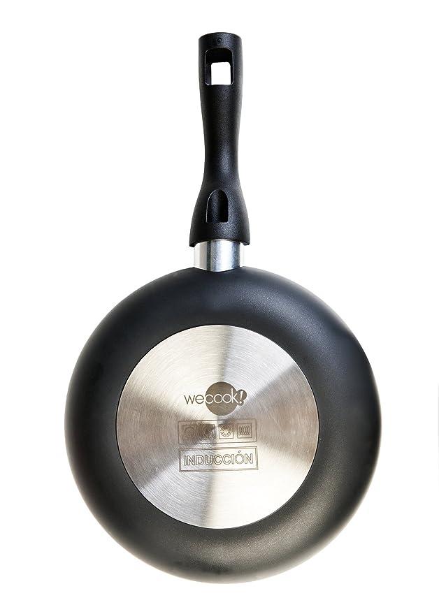 WeCook Ecogreen 10320 Sarten Antiadherente Induccion Vitrocerámica y Fogón, Aluminio, 20 cm, Sin PFOA ni BPA: Amazon.es: Hogar