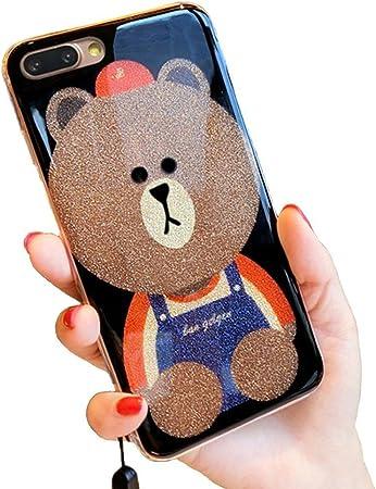 iPhone X Motif paillettes, Lozeguyc 3d mignon Ours Dessin animé ...