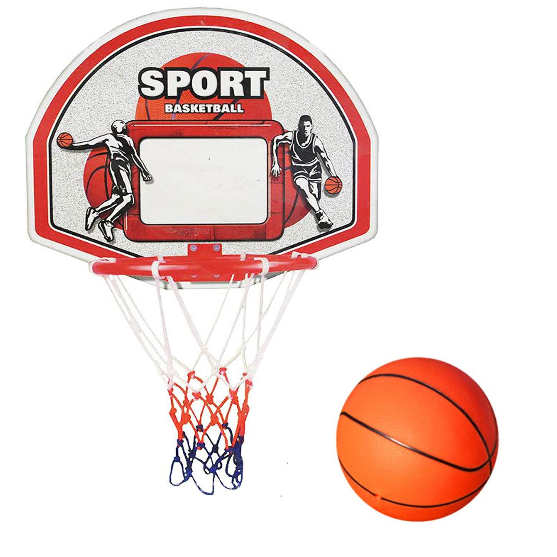 KIDS BEDROOM BASKETBALL SET HOOP BALL FUN INDOOR GAME TOY FOR BOYS GIRLS