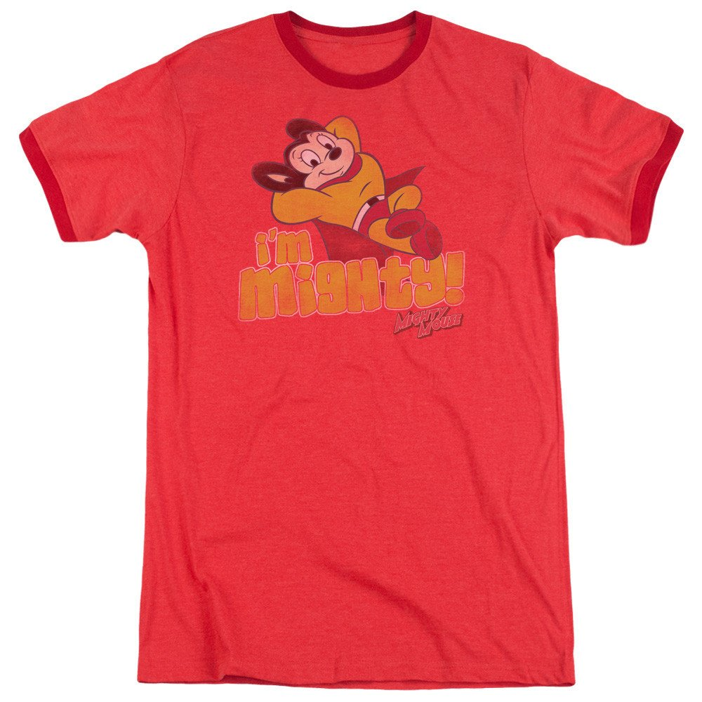 Shirt Im Mighty Adult Ringer T Mighty Mouse